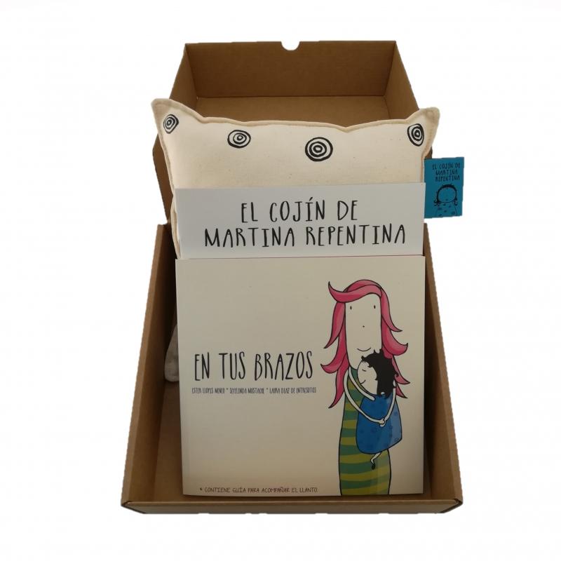 caja cojín cuentos